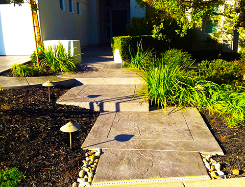 Stamped Concrete Walkway Folsom